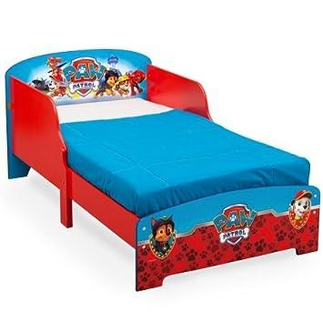 Amazon.com: Paw Patrol de madera cama infantil (colchón no ...