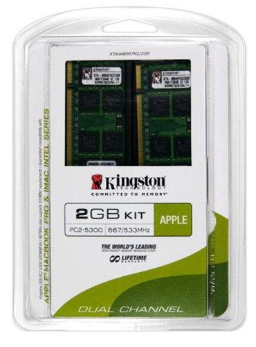 Module Memory Ddr2 1gb (Kingston Apple 2GB Kit (2x1GB Modules) 667MHz DDR2 SoDimm iMac and Macbook Memory (KTA-MB667K2/2GR))