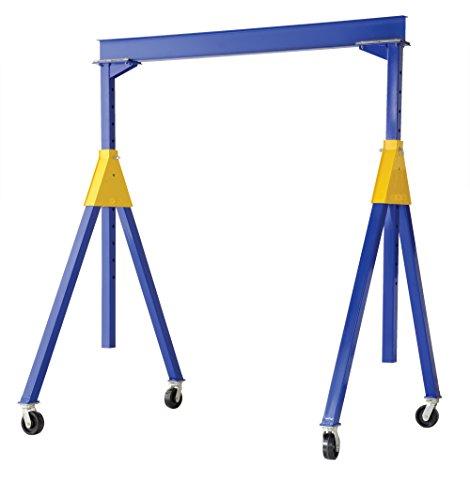 Vestil AHSN-6-10-12 Knock-Down Adjustable Steel Gantry Crane, 6000 lb. Capacity, 10