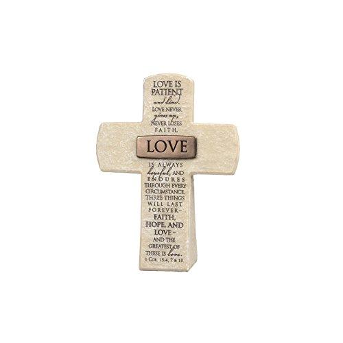 (Lighthouse Christian Products Love Title Bar Desktop Cross, 5 1/2 x 4, Bronze)