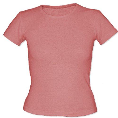 Fair Hemp Women's Hemp & Organic Cotton T-Shirt - Pale Pink XL ()