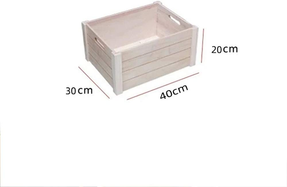 Zxcvlina-JJ Record Storage Crate Holds Up to 50 Albums Natural Stackable LP Album Shelf Vinyl Record Storage Cubeb Player Crates Color : White, Size : 40X30X20CM
