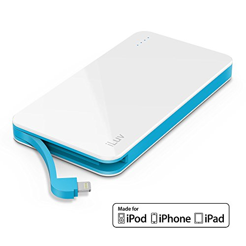 Iluv Compact Portable 5000Mah Power Bank, White Noticeable