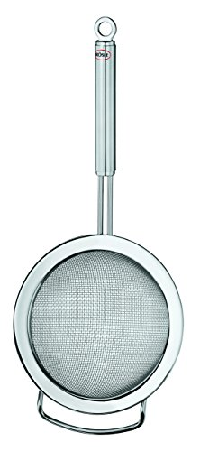 Rösle Stainless Steel Kitchen Strainer, Round Handle, Coarse Mesh, 9.5-inch by Rosle