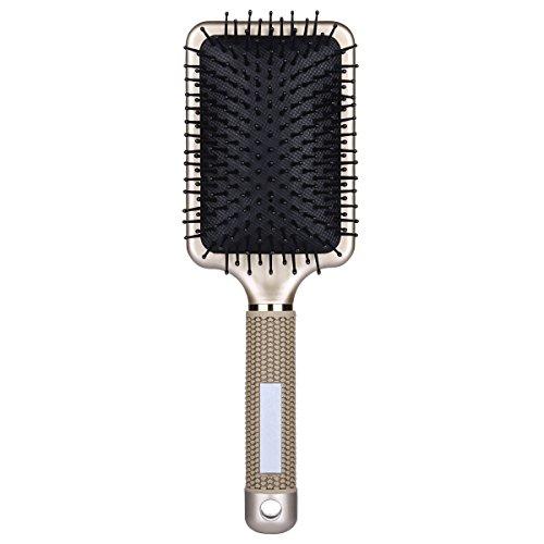 BTYMS Pro Paddle Hair Brush Velvet Touch Detangling Brush for Hair Straightening & Smoothing for Wet and Dry hair -