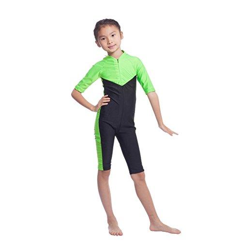 Weixinbuy Summer Girls Muslim One-piece Swimsuit Islamic (Girls Beachwear)
