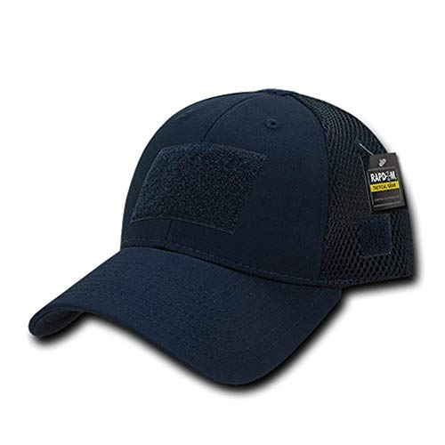 Low Crown Air Mesh Tactical Cap with Loop Patch - Navy ()