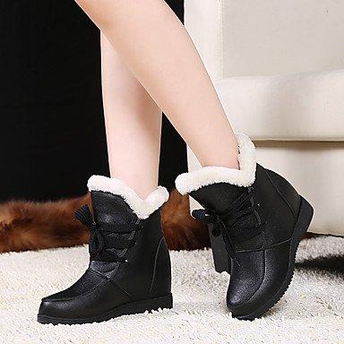 Forro Soles CN39 Botas Nieve Personalizados US8 De Luz Botas De Mujer UK6 De Pelusas De Zapatos Lluvia Polipiel Invierno Fur Materiales Otoño Moda Botas RTRY Forro Confort EU39 Hpvgqg