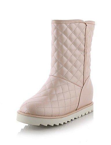 Redonda Azul Uk7 Casual Uk8 Mujer 5 De Rosa Pink Xzz Eu42 Vestido Pink Nieve Punta Semicuero us9 Blanco Negro Cn41 Zapatos Eu40 5 Botas Uk8 Plataforma Cn43 us10 7Fn0zq