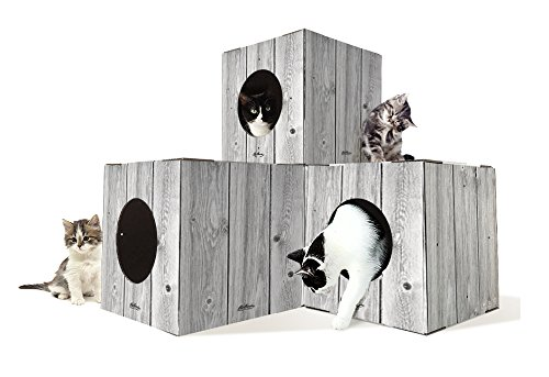 Cat Lovebox Indoor Cat Tree House 14.5W x 14.5L x