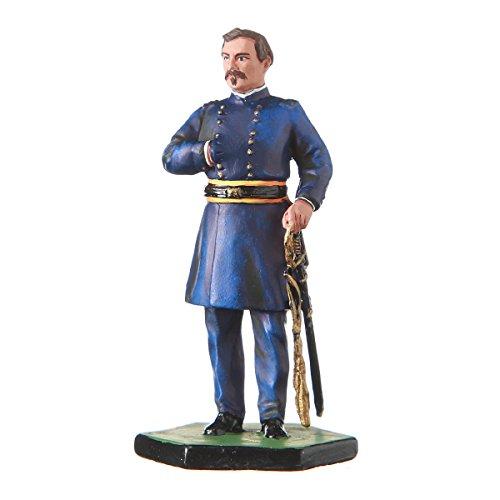 danila-souvenirs Tin Toy Soldier USA Civil war Northerners General George B. McClellan hand painted metal sculpture miniature figurine 54mm #5.57 Civil War Sculpture