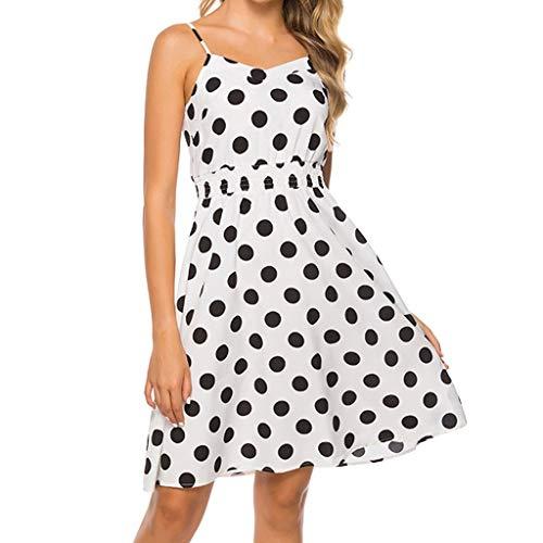 Sherostore ♡ Women's Dresses Summer Floral Bohemian Spaghetti Strap Button Down Swing Midi Dress with Pockets ()
