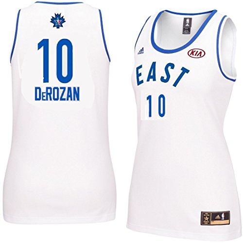 DeMar DeRozan #10 Women's 2016 Toronto NBA All Star Game Jersey White (Xlarge)