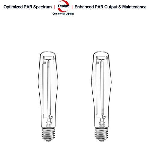 Hps Pressure Lamp High Sodium (Explux Horticultural Super HPS 600W Grow Light Bulbs, Optimized PAR Spectrum/Output/Maintenance, High Pressure Sodium Lamps, 2-Pack)