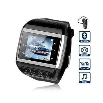 FLY-Shop-Smartwatch Negro Q8 reloj teléfono movil con pantalla táctil cámara espía tarjeta Dual SIM + teclado + MP3 + MP4: Amazon.es: Electrónica
