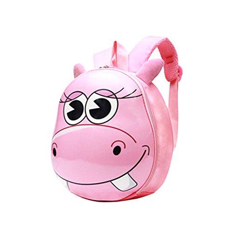 Tinksky Kinder Rucksack niedliche Tier Kindergarten Tasche für Jungen Mädchen (Rosa)