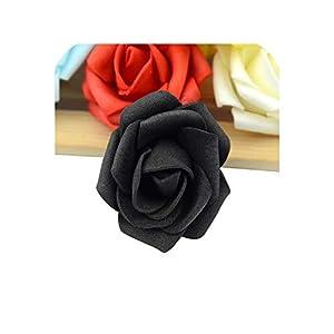 110pcs/lot Mini PE Foam Rose Flower Head Artificial Rose Flowers Handmade Wedding Home,Black 83