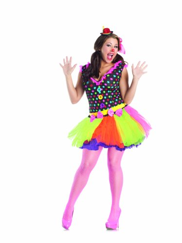 Party King Clowning Around Plus Size Women's Costume, Multi, 3X (Womens Plus Size Voodoo Doll Costume)