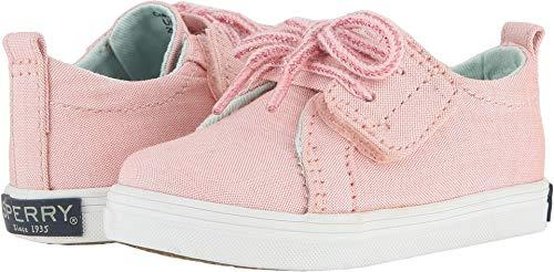 (SPERRY Girls' Crest Vibe Crib Jr Shoe, Pink, 3 Medium Infant)