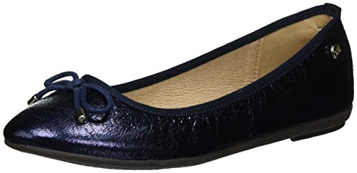 Punta Navy Navy Navy XTI Chiusa Metallic Ladies Ballerine Donna Shoes Blu xzxXwHZ