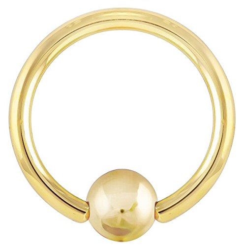 Solid Gold Captive Bead Ring - 2