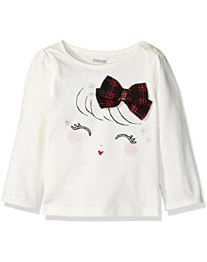 Baby Girls' Bow Ivory Graphic Tee