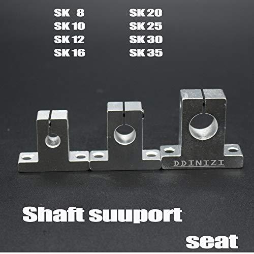 2 pcs//lot SK8 SH8A 8mm Linear Shaft Support 8mm Linear Rail Shaft Support XYZ Table CNC Parts 2pcs//lot Hot Sale Ochoos Hot Sale