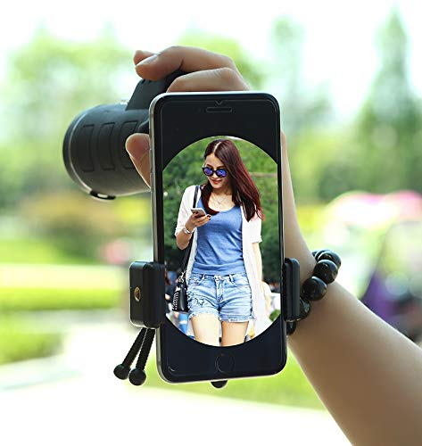RYRYBH Fashion Light and Convenient 40X60 High Magnification List Binoculars Outdoor Camera Phone Glasses Telescope (Size : Simple Phone Clip)