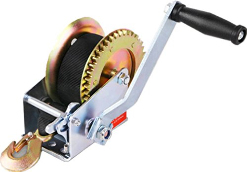 Notika 3500 lbs Hand Winch Crank Polyester Webb Strap Gear Winch ATV Boat Trailer 4350424551