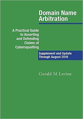 Domain Name Arbitration: Supplement And Update Through 2016 Ebook Rar