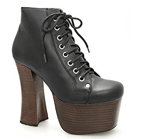 Jeffrey Campbell scarpe da donna Tronchetti in pelle - Nero