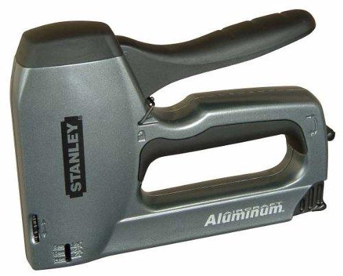 Stanley TR250 Handtacker und Nagler (mit Tiefenanschlag, Rü ckschlagsfrei, leichtgä ngiger Druckhebel, Klemmschutz) 6-TR250 + Tackerklammern (Typ G 11, 10mm, 1000 Stü ck)