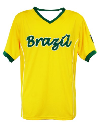 World Cup Soccer Brazil Home Performance Poly Shirt, Large, Yellow