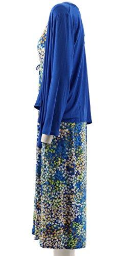 Hydrangea Blue A273582 Set Dress Maxi Hochman Carole A1q5vv