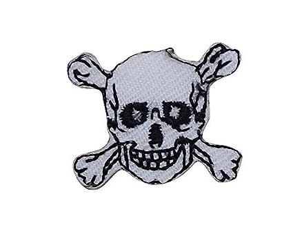 Amazon.com: mini xs skull crossbones jolly roger black white