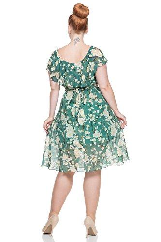 Voodoo Vixen - Vestido - trapecio - para mujer Verde