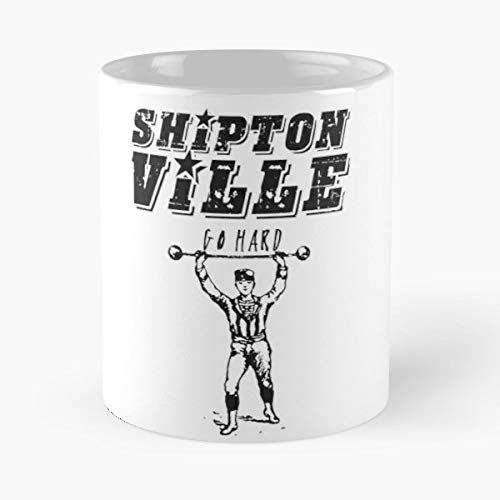 Shiptonville Go Hard Gym Train Life Ceramic Coffee Mugs, Funny Gift