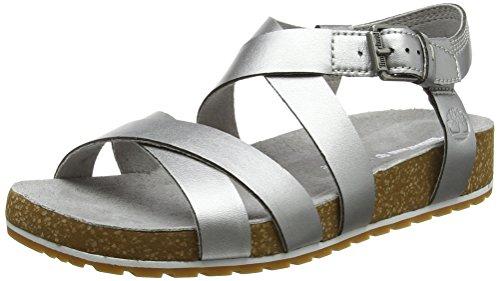 Cheville Femme Malibu 040 Timberland Sandales Waves Silver Matt Bride Ankle Gris XxdYq