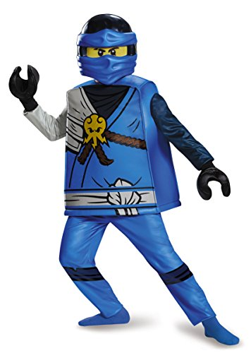 Jay Deluxe Ninjago Lego Costume, Large/10-12