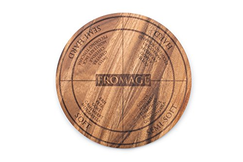 Ironwood Gourmet 28686 Round Dorset Cheese and Charcuterie Paddle