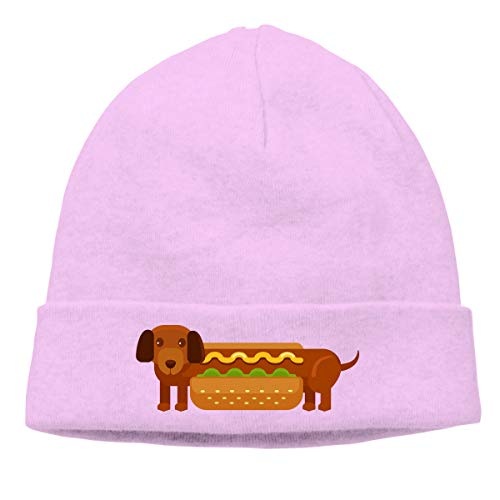 Hip-Hop Knitted Hat for Mens Womens Fashion Hot Dog Unisex Cuffed Plain Skull Knit Hat Cap Head Cap