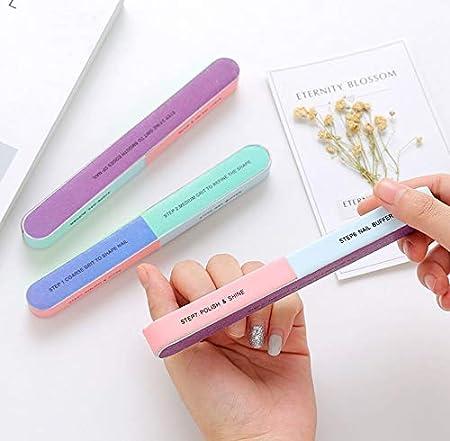 Facile da usare Lima per unghie, smalto per unghie-7 faccette per smerigliatura professionale per pedicure e manicure (Colore : As Shown, Dimensione : 17.5.cm*2cm) ShireyStore