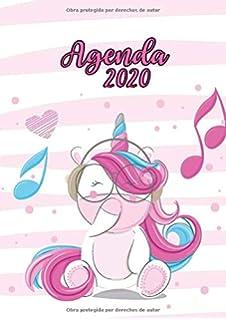 Agenda 2020: Tema Unicornios Verde corazones Agenda Mensual ...
