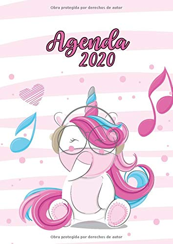 Agenda 2020: Tema Unicornios Agenda Mensual y Semanal + ...