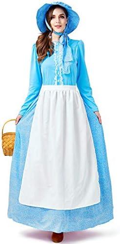Cosplay Navidad Mujer niña Vestido Colonial pionera ...