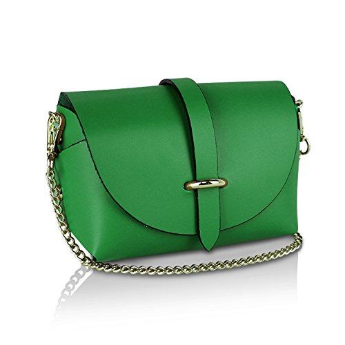 bandoulière soirée Made femme Cuir Vert Pochette Sac 008 à pour 1 Vrai in Sac Glamexx24 mariage Italy 4qSgn