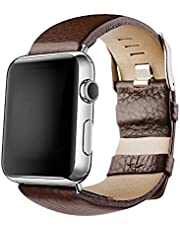 mysunny Apple Watch Cinturino, Cinturini di Ricambio in Vera Pelle di Vitello, Cinturino iwatch per Apple Watch Series 3 Series 2 Series 1 Storp Nike+ e Edition, 38mm 42mm