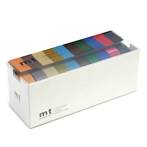 MT Washi Masking Tapes Set of 10, Cool Colors (MT10P004) from MT
