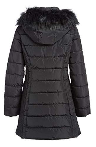 Nautica Women's 3/4 All Weather Puffer Coat (Black, Medium)