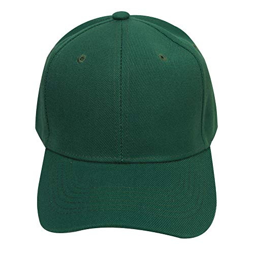 (Leke Baseball Cap for Men Women - Classic Adjustable Plain Hat Dark Green)